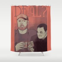 crowley Shower Curtains featuring Deal? by Justyna Rerak