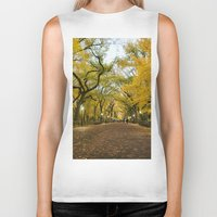 literary Biker Tanks featuring Central Park New York City by Vivienne Gucwa