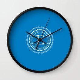 The Circle of E Wall Clock