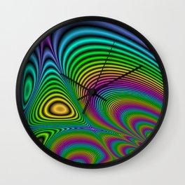 Fractal Op Art 7 Wall Clock