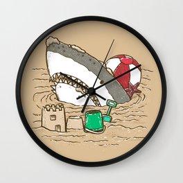 Sandy Beach Shark Wall Clock