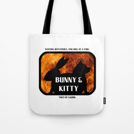Bunny and Kitty Two of a Kind Tote Bag