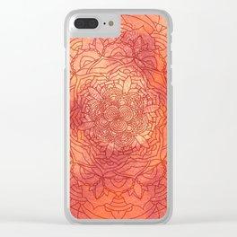 Autumn Mandala Pattern Clear iPhone Case