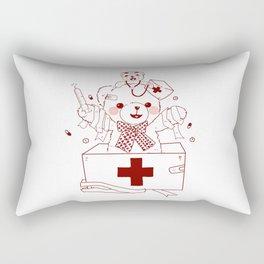 The Adventures of Bear and Baby Bear-Who's hurt? Rectangular Pillow