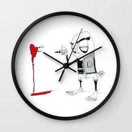 Darts (emotions) Wall Clock