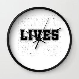 Retired Lives Matter Cool Retirees Retirement Veterans Gift Wall Clock