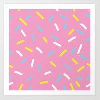 sprinkles Art Prints featuring Sprinkles by Diana Willett