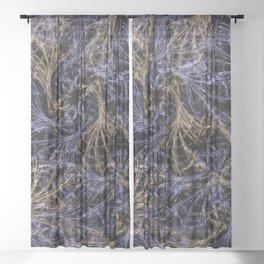 Blue Magical Wisps Sheer Curtain