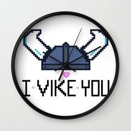 I Vike You Wall Clock