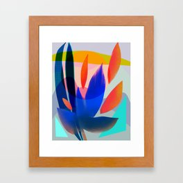 Shapes and Layers no.14 - leaves grid flames sun Framed Art Print