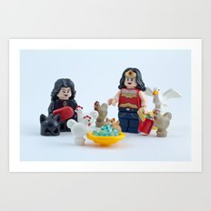 Keep your pets safe in the summer heat Art Print