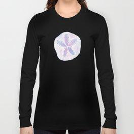 Mermaid Currency - Purple Sand Dollar Long Sleeve T-shirt