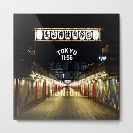 Tokyo 11:56 Metal Print