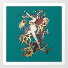 Butterfly Lady Art Print