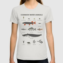 Infographic Guide to Water Animals T-shirt