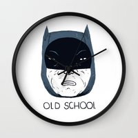 old school Wall Clocks featuring old school by Louis Roskosch