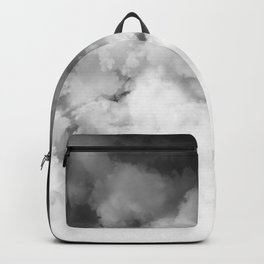 Ombre Black White Minimal Backpack