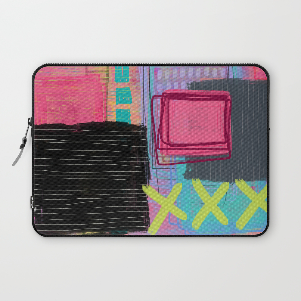 Maybe I'm Just Like My Mother - Abstract Painting Laptop Sleeve LSV8572757