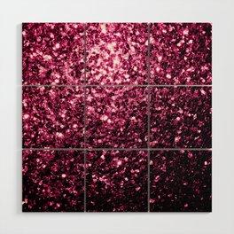 Beautiful Dark Pink glitter sparkles Wood Wall Art