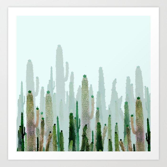 horizont cactus Art Print