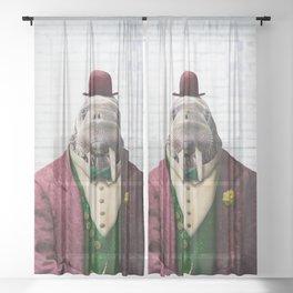 Portrait of Wendell Walrus Sheer Curtain