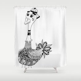 Ozzy the Ostracized Ostrich Shower Curtain