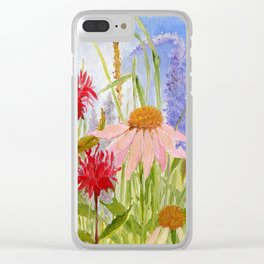 Garden Flowers on Sunny Day Clear iPhone Case