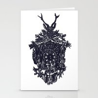 clockwork Stationery Cards featuring Clockwork by Jamie Bryan