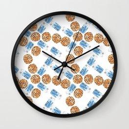 breakfast milk and cookies Wall Clock