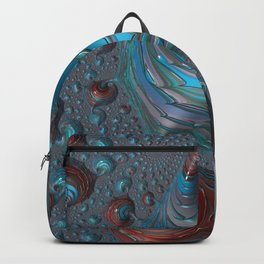 Oil Spot Light - Fractal Art Backpack