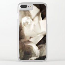 roses tintype Clear iPhone Case