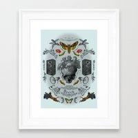 rorschach Framed Art Prints featuring Rorschach by Dreck Design
