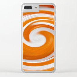 Lollipop Swirls - Orange Clear iPhone Case