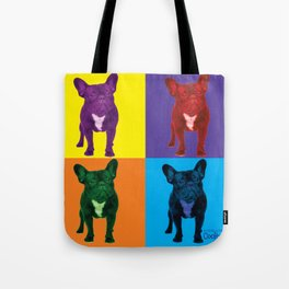 Four French Bulldogs by Crow Creek Coolture Tote Bag