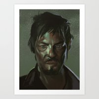 Daryl the Zombie Hunter Art Print