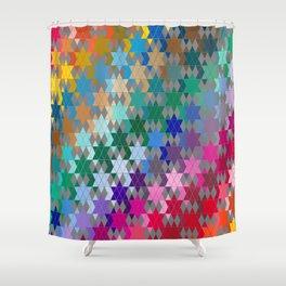 Star of David Pattern  Shower Curtain