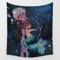 siren Wall Tapestries featuring Siren by Ashleigh Hungerford