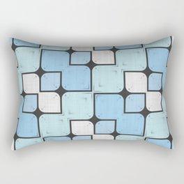 Blue Geometrical Pattern Rectangular Pillow