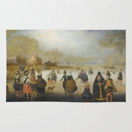 Adam Van Breen - Winter Landscape With Skaters Rug