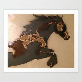 Horse Stencil Art Print