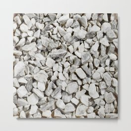 Stone Marble Chips Metal Print