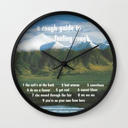 A Rough Guide to Feeling Rough 1. Wall Clock