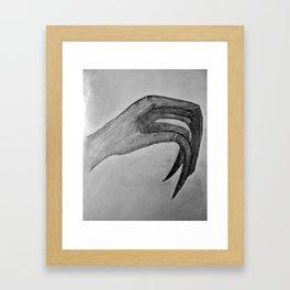 Human Talons Framed Art Print