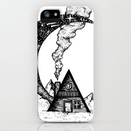 Cabin on the Moon iPhone Case