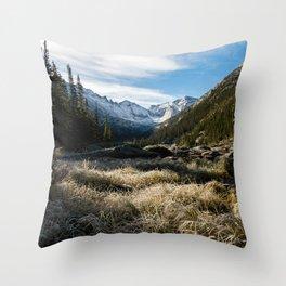 Mills Lake Morning Throw Pillow
