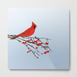 AFE Red Cardinal Metal Print