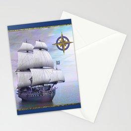 Vintage Sailing Ship Stationery Cards