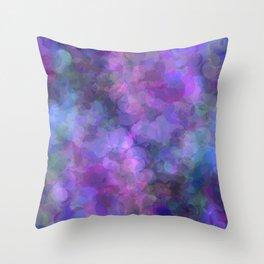 Blueberry Bubbles Throw Pillow
