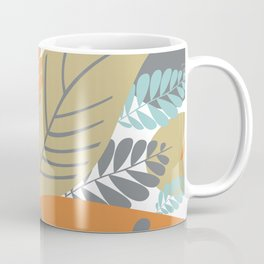 Bright Tropical Leaf Retro Mid Century Modern Coffee Mug