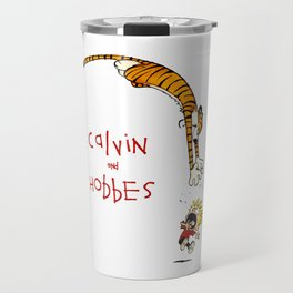 calvin and hobbes funny Travel Mug